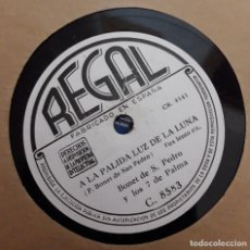 Discos de pizarra: BONET DE SAN PEDRO Y LOS 7 DE PALMA - A LA PALIDA LUZ DE LA LUNA / QUIERO VOLVER A MI VIRGINIA. Lote 130763208