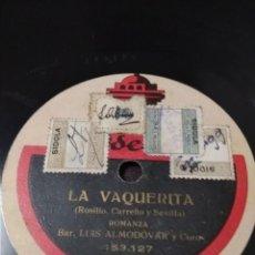 Discos de pizarra: LOTE 6.CONTIENE 10 DISCOS DE PIZARRA VARIADOS. 78 RPM . Lote 131134624