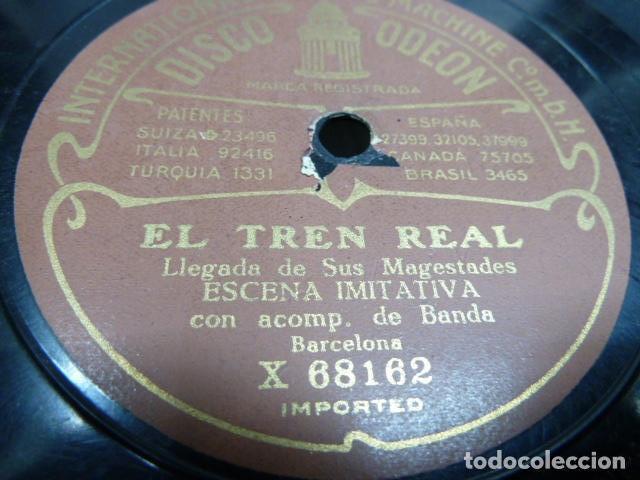 EL TREN REAL - ESCENA IMITATIVA CON ACOMPAÑAMENTO DE ORQUESTA CORRIDA DE TOROS BANDA Y CLARINETE (Música - Discos - Pizarra - Solistas Melódicos y Bailables)