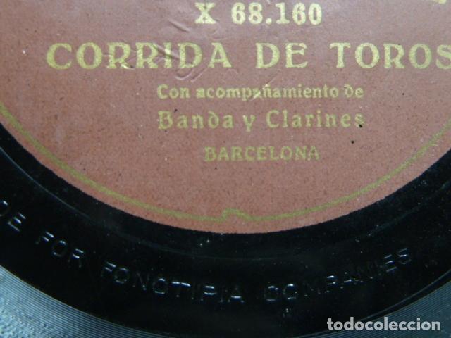 Discos de pizarra: EL TREN REAL - ESCENA IMITATIVA CON ACOMPAÑAMENTO DE ORQUESTA CORRIDA DE TOROS BANDA Y CLARINETE - Foto 3 - 131682918