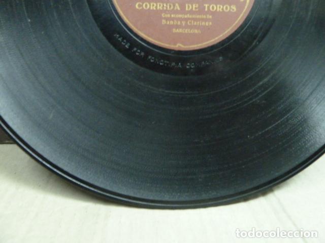 Discos de pizarra: EL TREN REAL - ESCENA IMITATIVA CON ACOMPAÑAMENTO DE ORQUESTA CORRIDA DE TOROS BANDA Y CLARINETE - Foto 7 - 131682918
