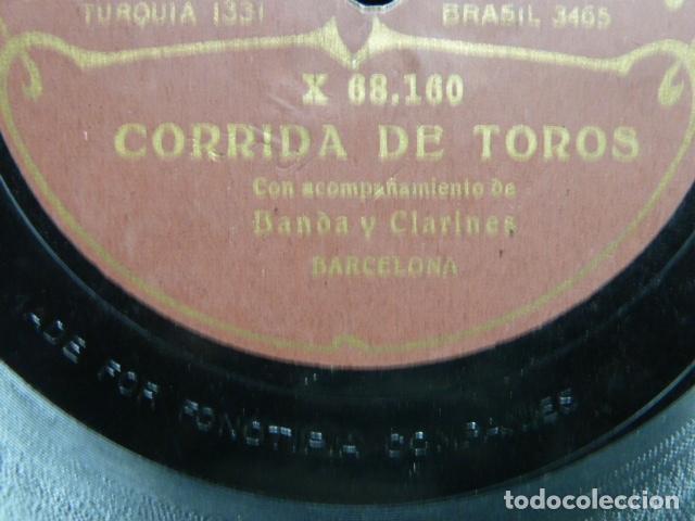 Discos de pizarra: EL TREN REAL - ESCENA IMITATIVA CON ACOMPAÑAMENTO DE ORQUESTA CORRIDA DE TOROS BANDA Y CLARINETE - Foto 8 - 131682918