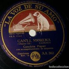 Discos de pizarra: DISCOS 78 RPM - CONCHITA PIQUER - ORQUESTA - ¡LA GUAPA, GUAPA! - CANTA MORENA - PIZARRA. Lote 132286098