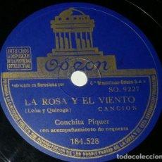 Discos de pizarra: DISCOS 78 RPM - CONCHITA PIQUER - ORQUESTA - LA ROSA Y EL VIENTO - EL CARIÑO QUE TE TENGO - PIZARRA. Lote 132287342