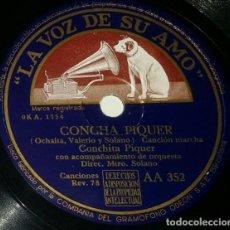 Discos de pizarra: DISCOS 78 RPM - CONCHITA PIQUER - ORQUESTA - CANCIÓN MARCHA - CANCIÓN BOLERO - PIZARRA. Lote 132287754