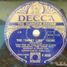 Discos de pizarra: THE HARRY LIME THEME/ THE CAFE MOZART WALTZ. Lote 132323962