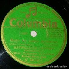 Discos de pizarra: DISCOS 78 RPM - ESTRELLITA CASTRO - ORQUESTA - BULERÍAS DEL SIGLO XVIII - LA CINTERA - PIZARRA. Lote 132384034