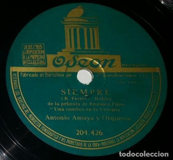 DISCOS 78 RPM - ANTONIO AMAYA - ORQUESTA - BOLERO - EMISORA FILMS - PELÍCULA - FARRÉS - PIZARRA (Música - Discos - Pizarra - Flamenco, Canción española y Cuplé)