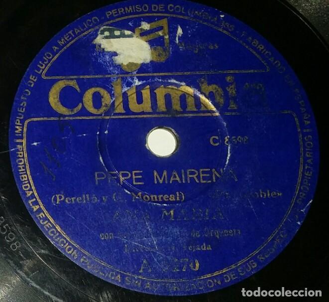 Discos de pizarra: DISCOS 78 RPM - ANA MARÍA - ORQUESTA - FARRUCA - EL BEREBITO - PASODOBLE - PEPE MAIRENA - PIZARRA - Foto 2 - 132472398