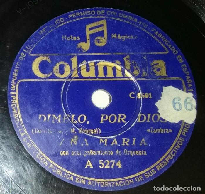 DISCOS 78 RPM - ANA MARÍA - ORQUESTA - ZAMBRA - PASODOBLE - EL LITRI - PIZARRA (Música - Discos - Pizarra - Flamenco, Canción española y Cuplé)