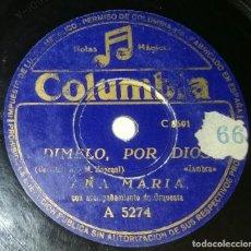 Discos de pizarra: DISCOS 78 RPM - ANA MARÍA - ORQUESTA - ZAMBRA - PASODOBLE - EL LITRI - PIZARRA. Lote 132472846