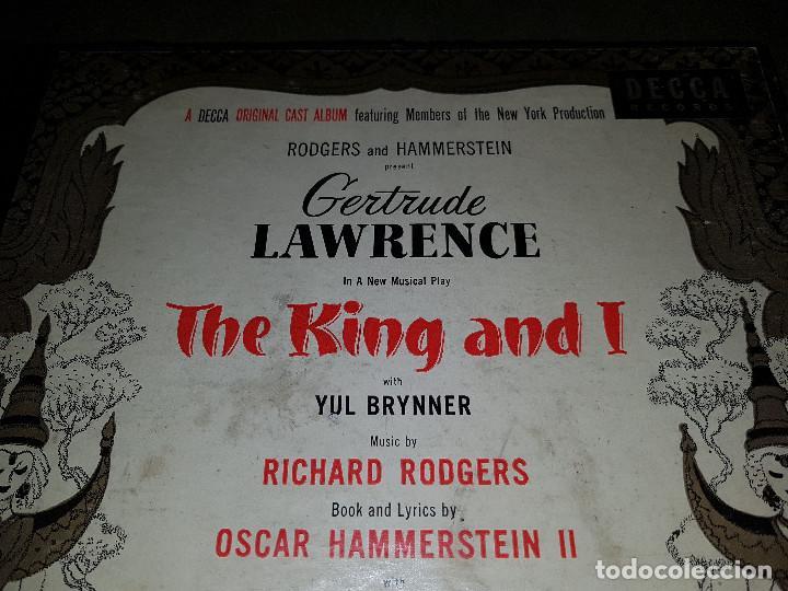 Discos de pizarra: Album original Decca ¨EL REY Y YO¨ Oscar Hammerstein, 1951 - Foto 2 - 132574590