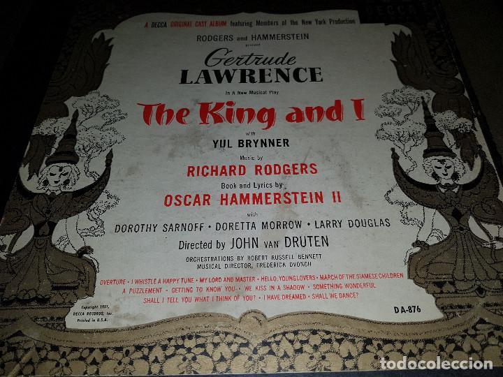 Discos de pizarra: Album original Decca ¨EL REY Y YO¨ Oscar Hammerstein, 1951 - Foto 3 - 132574590