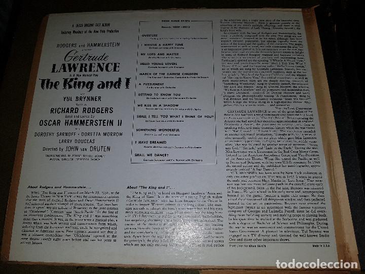 Discos de pizarra: Album original Decca ¨EL REY Y YO¨ Oscar Hammerstein, 1951 - Foto 4 - 132574590