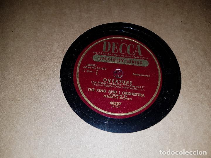 Discos de pizarra: Album original Decca ¨EL REY Y YO¨ Oscar Hammerstein, 1951 - Foto 5 - 132574590