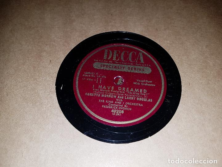 Discos de pizarra: Album original Decca ¨EL REY Y YO¨ Oscar Hammerstein, 1951 - Foto 7 - 132574590