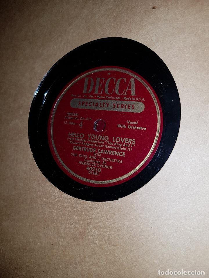 Discos de pizarra: Album original Decca ¨EL REY Y YO¨ Oscar Hammerstein, 1951 - Foto 9 - 132574590