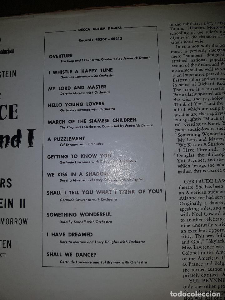 Discos de pizarra: Album original Decca ¨EL REY Y YO¨ Oscar Hammerstein, 1951 - Foto 13 - 132574590