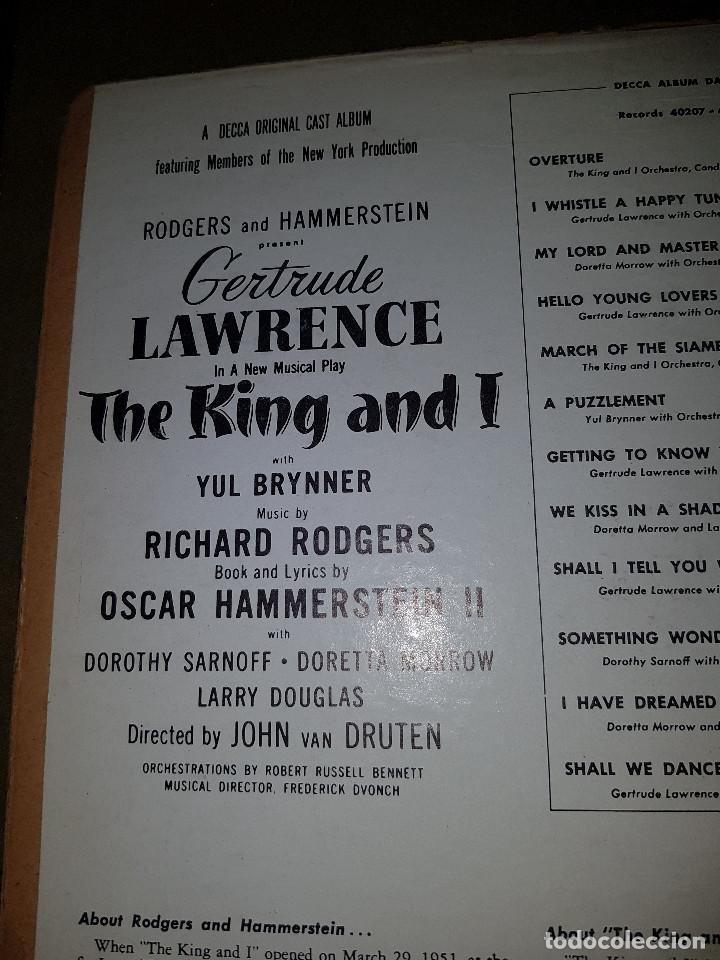Discos de pizarra: Album original Decca ¨EL REY Y YO¨ Oscar Hammerstein, 1951 - Foto 14 - 132574590