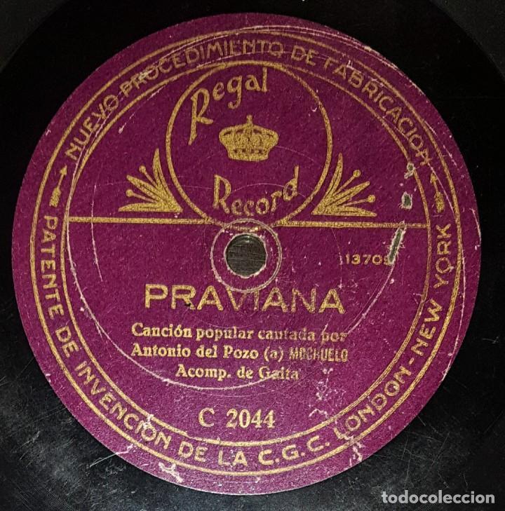 Discos de pizarra: DISCOS 78 RPM - ANTONIO POZO EL MOCHUELO - GUITARRA - GAITA - JOTA DE LA SIERRA - PRAVIANA - PIZARRA - Foto 2 - 133037574