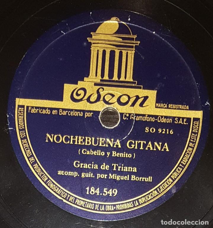 Discos de pizarra: DISCOS 78 RPM - GRACIA DE TRIANA - MIGUEL BORRULL - GUITARRA - FANDANGOS - PIZARRA - Foto 2 - 133299590