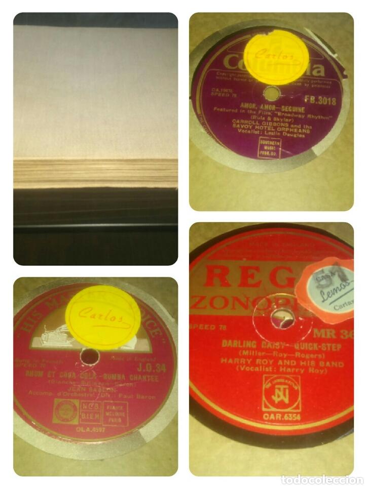 Discos de pizarra: Lote de 7 discos antiguos de pizarra con el álbum incluido. - Foto 2 - 133472590