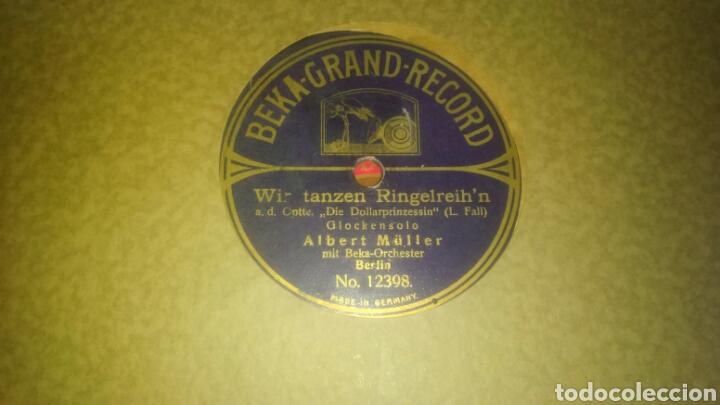Discos de pizarra: Lote de 7 discos antiguos de pizarra con el álbum incluido. - Foto 5 - 133472590