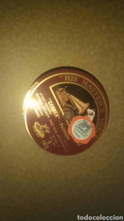 Discos de pizarra: Lote de 7 discos antiguos de pizarra con el álbum incluido. - Foto 6 - 133472590