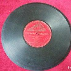 Discos de pizarra: EL CANTO DEL PRESIDARIO. VICTOR RECORD.. Lote 133521926