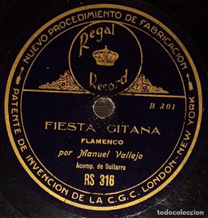 Discos de pizarra: DISCOS 78 RPM - MANUEL VALLEJO - GUITARRA - MALAGUEÑAS - FIESTA GITANA - PIZARRA - Foto 2 - 133563914