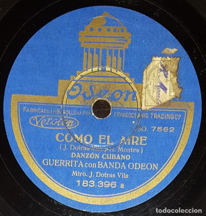 DISCOS 78 RPM - GUERRITA - BANDA ODEON - DANZÓN CUBANO - PASODOBLE CON FANDANGUILLO - PIZARRA (Música - Discos - Pizarra - Flamenco, Canción española y Cuplé)