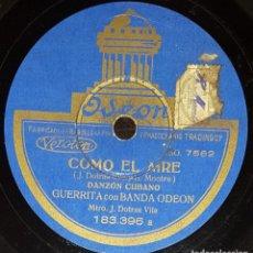 Discos de pizarra: DISCOS 78 RPM - GUERRITA - BANDA ODEON - DANZÓN CUBANO - PASODOBLE CON FANDANGUILLO - PIZARRA. Lote 133567358