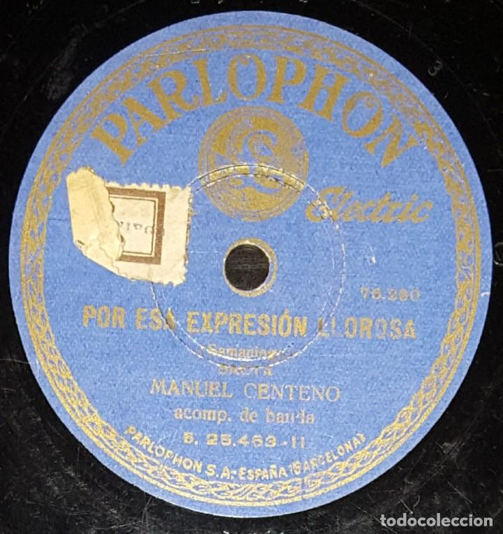 Discos de pizarra: DISCOS 78 RPM - MANUEL CENTENO - BANDA - SAETA - ES TAN GRANDE LA ESCULTURA - PIZARRA - Foto 2 - 133568038