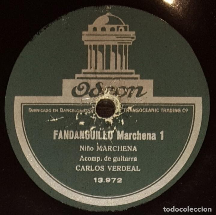 DISCOS 78 RPM - NIÑO MARCHENA - CARLOS VERDEAL - GUITARRA - FANDANGUILLO MARCHENA - PIZARRA (Música - Discos - Pizarra - Flamenco, Canción española y Cuplé)