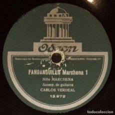 Discos de pizarra: DISCOS 78 RPM - NIÑO MARCHENA - CARLOS VERDEAL - GUITARRA - FANDANGUILLO MARCHENA - PIZARRA. Lote 133631438