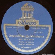 Discos de pizarra: DISCOS 78 RPM - NIÑO MARCHENA - MIGUEL BORRULL - GUITARRA - SEGUIDILLAS - FANDANGUILLO - PIZARRA. Lote 133651298