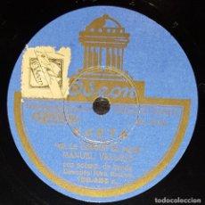 Discos de pizarra: DISCOS 78 RPM - MANUEL VALLEJO - BANDA - SAETA - SE LE CONOCE LA PENA - PIZARRA. Lote 133653514