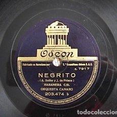 Discos de pizarra: NEGRITO. HORCHATERA VALENCIANA. ORQUESTA CANARO.. Lote 133736254