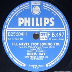 Discos de pizarra: DISCOS 78 RPM - DORIS DAY - PERCY FAITH - MGM PICTURE - LOVE ME OR LEAVE ME - PIZARRA. Lote 133736442