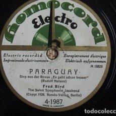 Discos de pizarra: PARAGUAY. WHO?. FRED BIRD.. Lote 133739626
