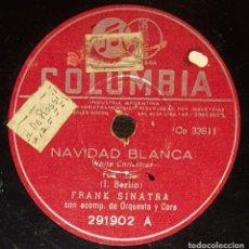 Discos de pizarra: DISCOS 78 RPM - FRANK SINATRA - ORQUESTA - WHITE CHRISTMAS - I. BERLIN - SO FAR - PIZARRA. Lote 133753866