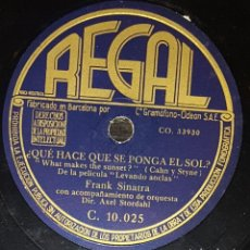 Discos de pizarra: DISCOS 78 RPM - FRANK SINATRA - ORQUESTA - FILM - LEVANDO ANCLAS - THE CHARM OF YOU - PIZARRA. Lote 133758054