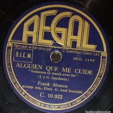 Discos de pizarra: DISCOS 78 RPM - FRANK SINATRA - ORQUESTA - SOMEONE TO WATCH OVER ME - I DREAM OF YOU - PIZARRA. Lote 133758818