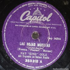 Discos de pizarra: DISCOS 78 RPM - NAT KING COLE - ORQUESTA NELSON RIDDLE - YOU ARE MY SUNSHINE - PIZARRA. Lote 133820114