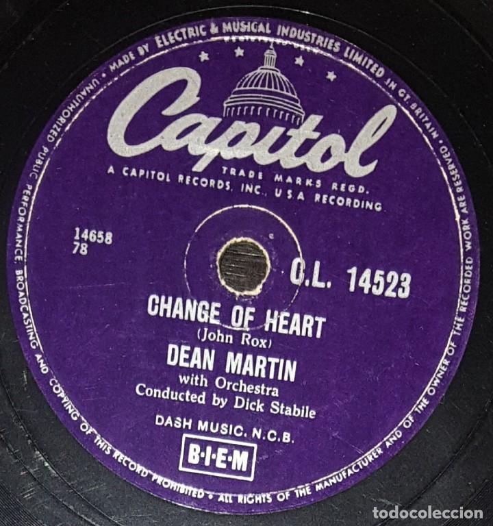 Discos de pizarra: DISCOS 78 RPM - DEAN MARTIN - ORQUESTA - MEMORIES ARE MADE OF THIS - CHANGE OF HEART - PIZARRA - Foto 2 - 133836350