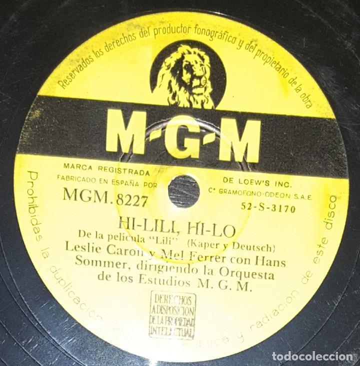 Discos de pizarra: DISCOS 78 RPM - LESLIE CARON - MEL FERRER - HANS SOMMER - ORQUESTA - FILM - LILI - PIZARRA - Foto 2 - 133837922