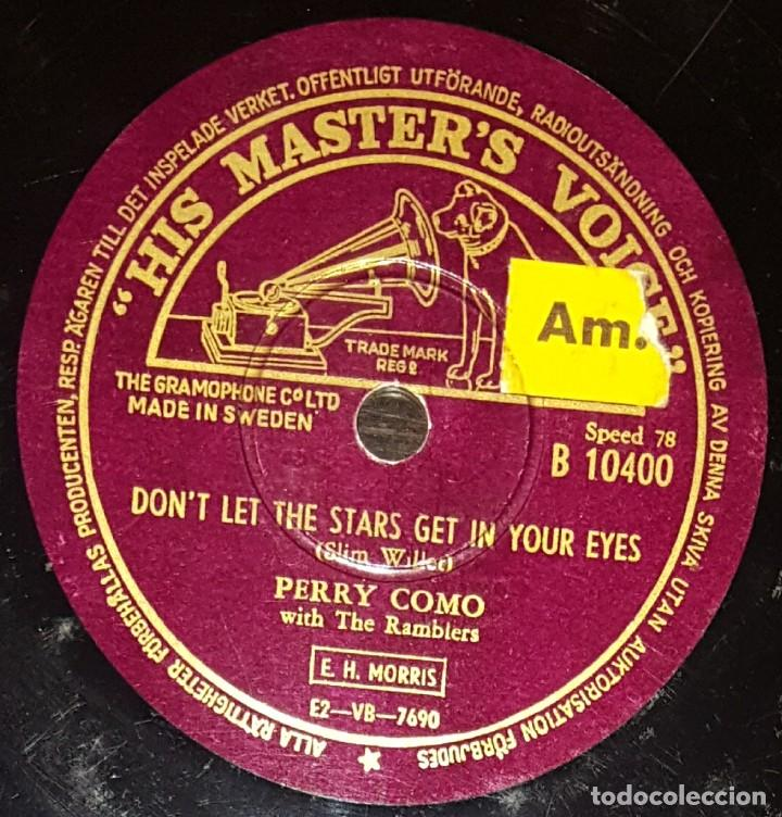 Discos de pizarra: DISCOS 78 RPM - PERRY COMO - THE FONTANE SISTERS - THE RAMBLERS - TO KNOW YOU - PIZARRA - Foto 2 - 133849266