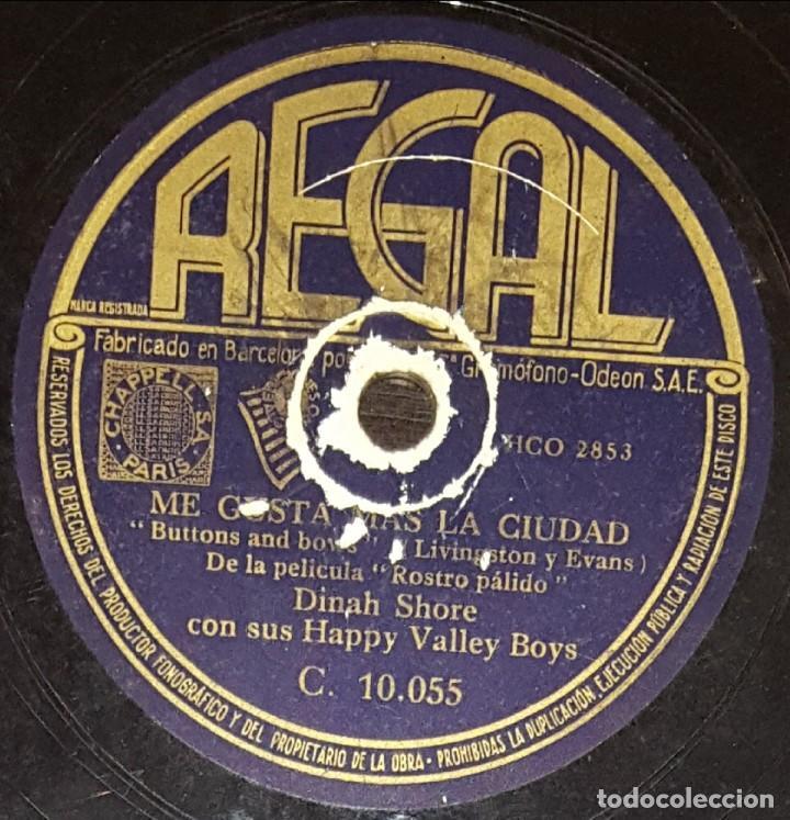 Discos de pizarra: DISCOS 78 RPM - DINAH SHORE - ORQUESTA - NO QUISIERA AMARTE - ME GUSTA MÁS LA CIUDAD - PIZARRA - Foto 2 - 133849702