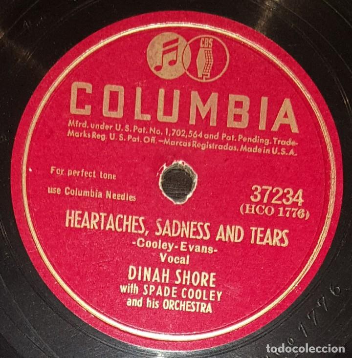DISCOS 78 RPM - DINAH SHORE - SPADE COOLEY - ORQUESTA - ANNIVERSARY SONG - PIZARRA (Música - Discos - Pizarra - Jazz, Blues, R&B, Soul y Gospel)