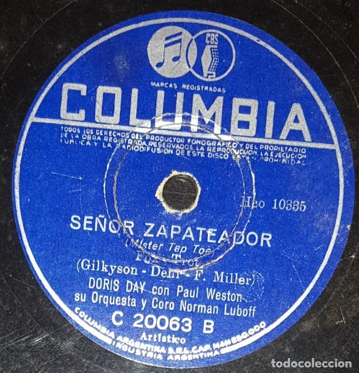 Discos de pizarra: DISCOS 78 RPM - DORIS DAY - JOHNNIE RAY - PAUL WESTON - ORQUESTA - MA SAYS, PA SAYS - PIZARRA - Foto 2 - 133850854